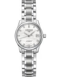 Longines - L2.128.4.87.6 Master Automatic Stainless Steel Watch - Lyst