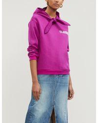 Claudie Pierlot - Tcool Logo-print Cotton-blend Hoody - Lyst