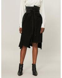 Aganovich - Decontructed Cotton-jersey Skirt - Lyst