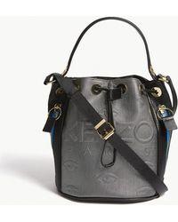 KENZO - Kombo Neoprene & Leather Bucket Bag - Lyst