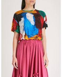 Vionnet - X Marc Quinn Plastic Bag Stretch-jersey T-shirt - Lyst