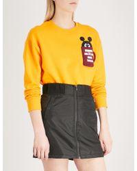 Mini Cream - Patch Pocket Cotton-blend Sweatshirt - Lyst
