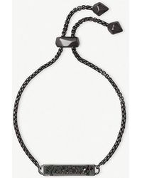 Kendra Scott - Stan Gunmetal Adjustable Chain Bracelet - Lyst