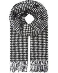 Sandro | Houndstooth Printed Wool Scarf | Lyst