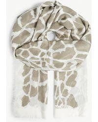 Max Mara - Animal Print Modal-blend Scarf - Lyst