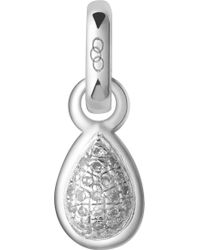 Links of London - April Sterling Silver And Diamond Mini Birthstone Charm - Lyst