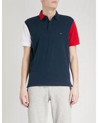 Tommy Hilfiger | Colour-block Cotton Polo Shirt | Lyst