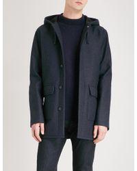 A.P.C. - Ben Hooded Wool-blend Coat - Lyst