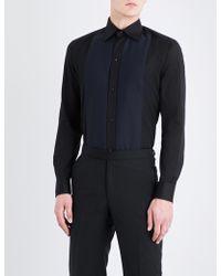 Eton of Sweden - Contrast-bib Slim-fit Cotton-poplin Shirt - Lyst