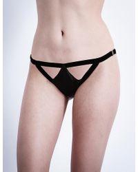 Coco De Mer - Persephone Silk-satin Bikini Briefs - Lyst