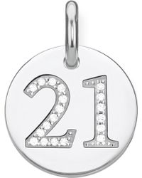 Thomas Sabo - Love Coin Number 21 Sterling Silver Disc Pendant - Lyst