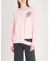 Mini Cream | Printed Cotton-blend Sweatshirt | Lyst