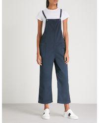 AG Jeans - Ilene Wide-leg Denim Jumpsuit - Lyst