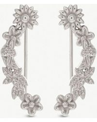 Olivia Burton - Bee Bloom Floral And Bee Sterling Silver Earrings - Lyst