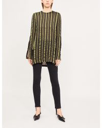 Kitx - Song Lines Striped Silk-blend Top - Lyst