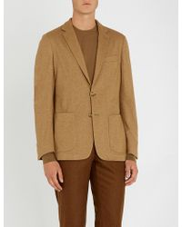 Corneliani - Tailored-fit Cashmere And Silk-blend Jacket - Lyst