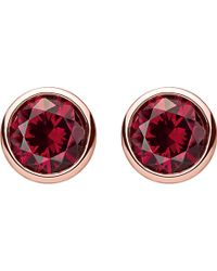 Thomas Sabo - Classic Red Sterling Silver And 18k Rose-gold Plated Ear Studs - Lyst
