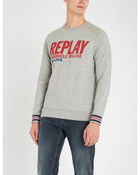 Replay - Chronicle Deluxe Cotton-jersey Sweatshirt - Lyst