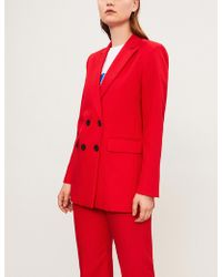 Sandro - Billy Double-breasted Woven Jacket - Lyst