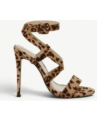 Office - Hampstead Leopard Print Faux-leather Crossover Strap Sandals - Lyst
