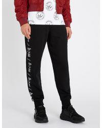 McQ - Logo-print Cotton-jersey Jogging Bottoms - Lyst