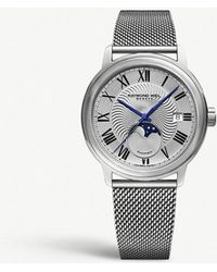 Raymond Weil - 2239m-st-00659 Men's Maestro Automatic Moonphase Date Mesh Bracelet Strap Watch - Lyst
