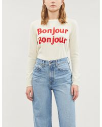 Chinti & Parker - Bonjour Bonjour Cashmere And Wool-blend Sweater - Lyst