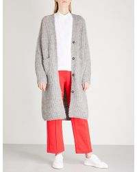 Mo&co. - Oversized Mohair-blend Cardigan - Lyst
