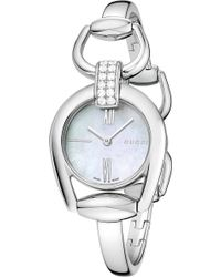140a851285e Gucci Ya133207 Interlocking Rose Gold-plated And Leather Watch - For ...