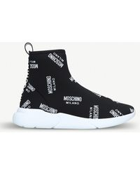 Moschino - Logo-detail Sock Trainers - Lyst