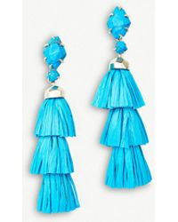 Kendra Scott - Denise 14ct Gold-plated And Aqua Howlite Tassel Earrings - Lyst