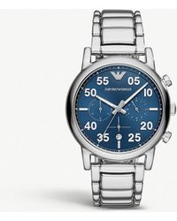 Emporio Armani - Ar11132 Luigi Stainless Steel Chronograph Watch - Lyst