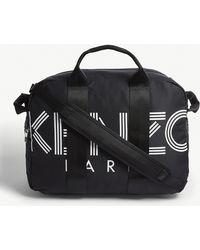 KENZO - Black And White Paris Logo Tote Bag - Lyst