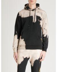 Criminal Damage - Bleach Distressed Cotton-jersey Hoody - Lyst