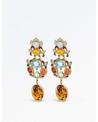 Percossi Papi - Topaz And Orange Zircon Drop Earrings - Lyst