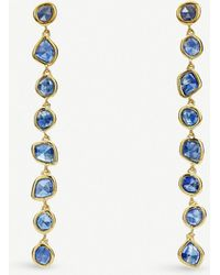 Monica Vinader - Mini Nugget Cocktail 18ct Gold-vermeil Earrings - Lyst