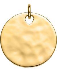 Monica Vinader - Havana Large Round 18ct Gold Vermeil Pendant - Lyst