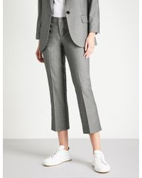 Zadig & Voltaire - Posh Cropped High-rise Woven Straight-leg Trousers - Lyst