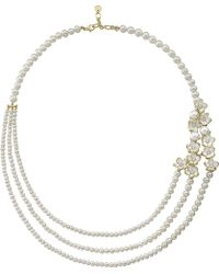 Shaun Leane | Silver And Gold Cherry Blossom Diamond Necklace | Lyst