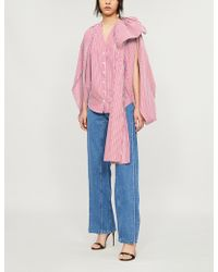 Y. Project - Open-sleeve Striped Cotton Shirt - Lyst