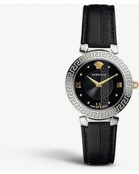 Versace - V16020017 Daphnis Stainless Steel And Leather Watch - Lyst