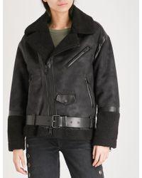 Izzue - Oversized Faux-shearling Jacket - Lyst
