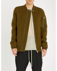Rick Owens - Textured Wool Bomber Jacket - Lyst