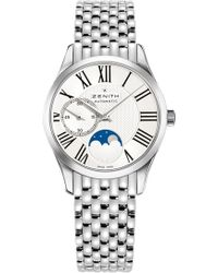 Zenith - 03.2310.692/02.m2310 Elite Moonphase Stainless Steel Watch - Lyst