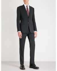 Emporio Armani - Regular-fit Straight Wool Trousers - Lyst