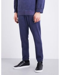 Vivienne Westwood Anglomania - Faded Stretch-cotton Jogging Bottoms - Lyst