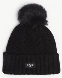 UGG - Cable Knit Pompom Beanie - Lyst 0b4f61c89ee