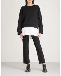 5cm - Layered Cotton-jersey Jumper - Lyst