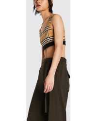 Burberry - Dalby Checked Stretch-jersey Sports Bra - Lyst