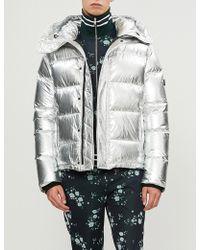 KENZO - Hooded Metallic Shell-down Jacket - Lyst